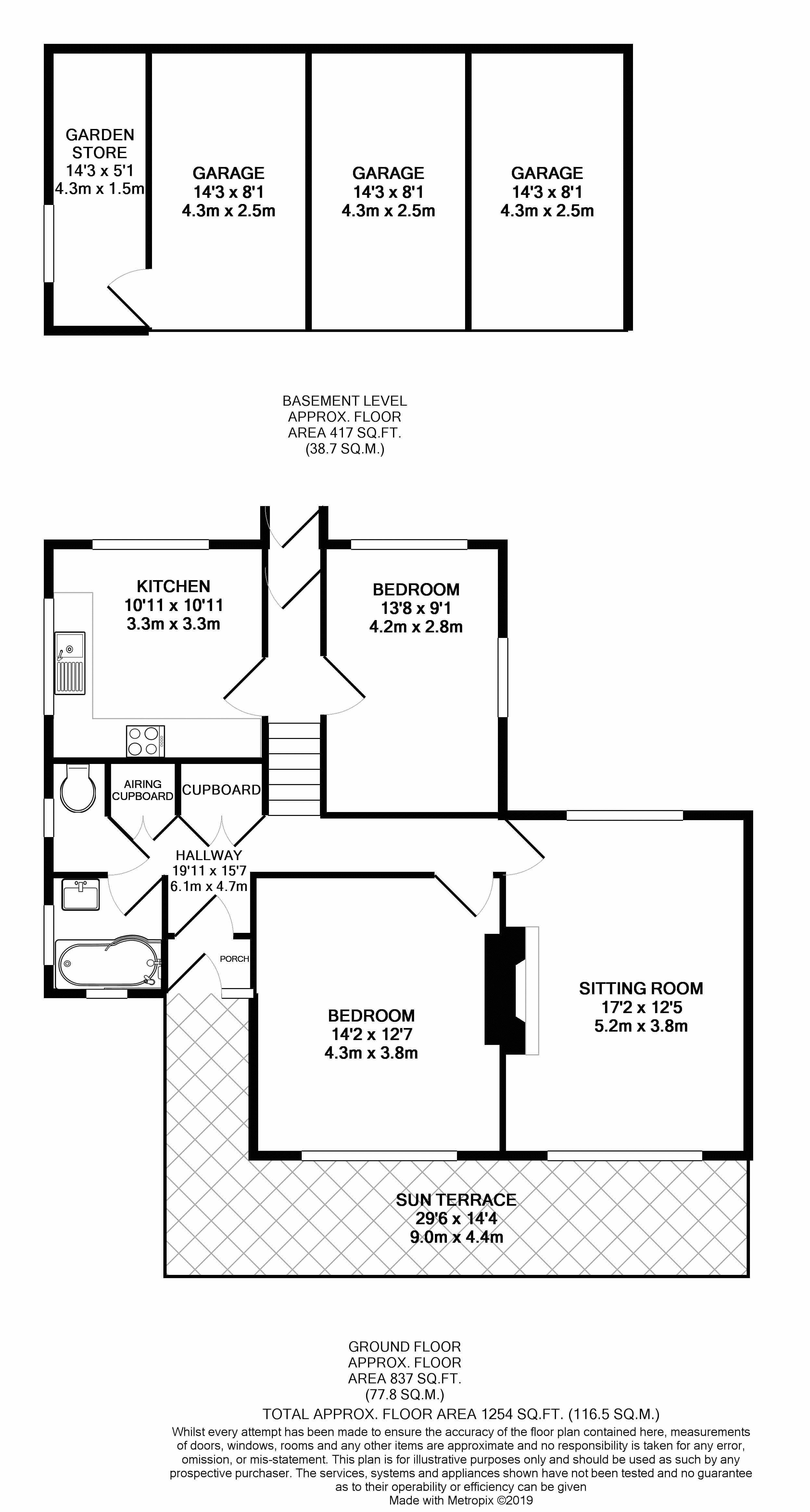 21a Park Gardens Floor Plan BW
