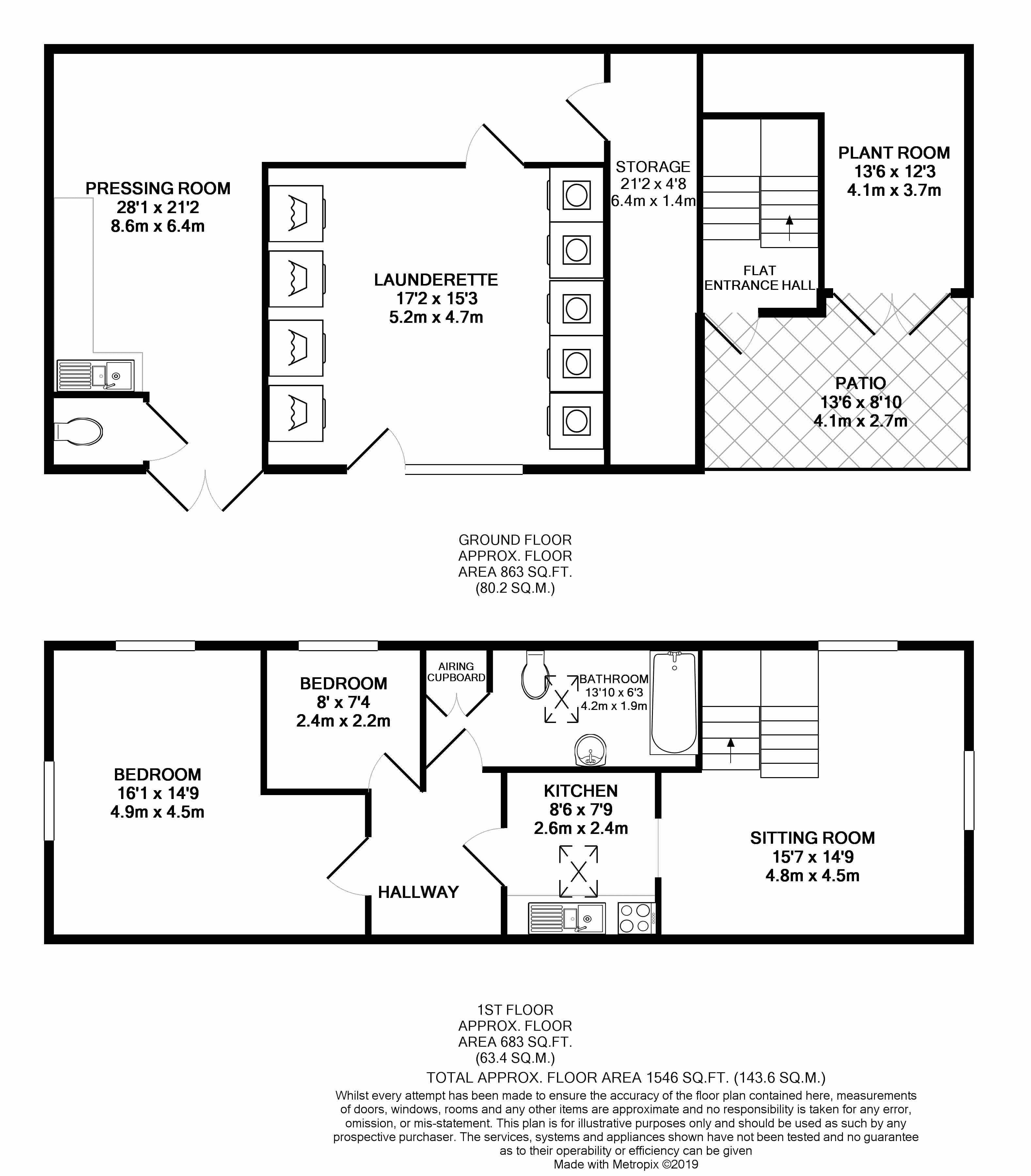 Cavendish Place Floor Plan B&W