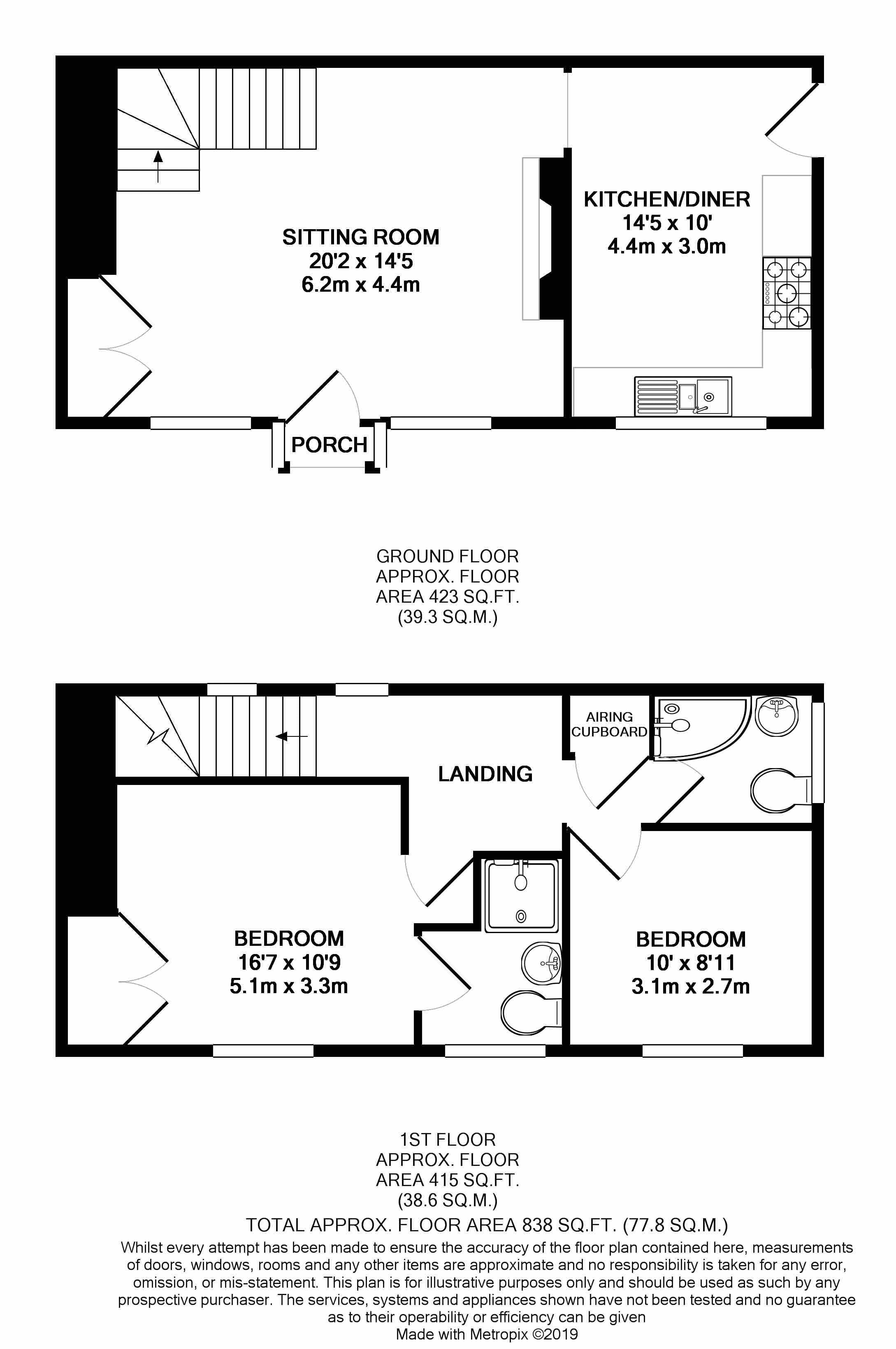 2, Burnells Cottage Floor Plan BW