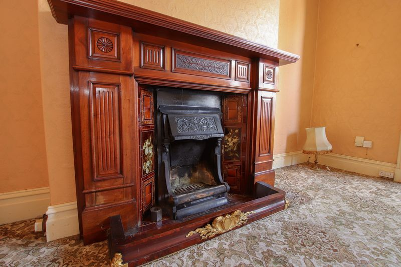 Reception room one - original fire