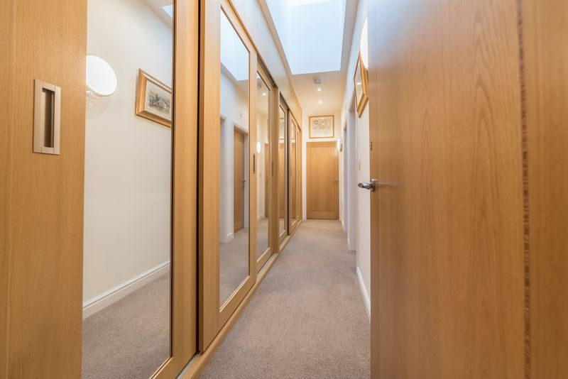 Hallway with built in storage