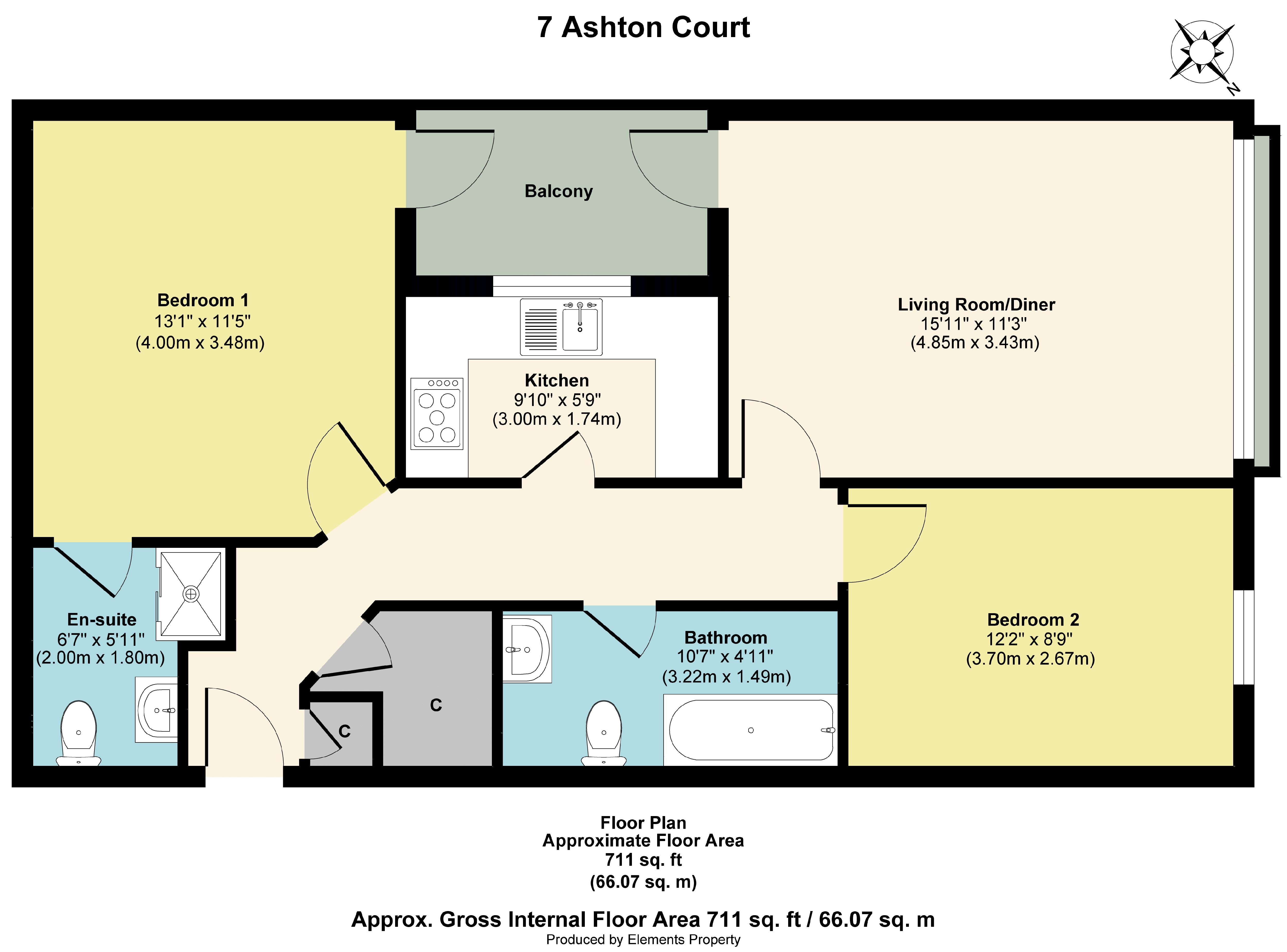 Floorplan from 7 Ashton court