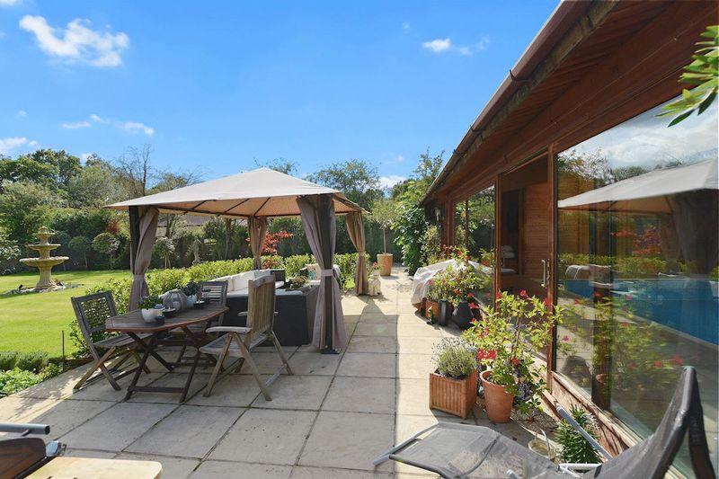 Terrace BBQ area overlooking secret garden