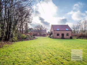 Distant Barn & House
