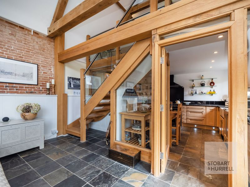 Kitchen & Stairs to Snug