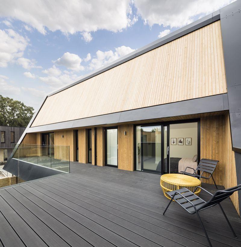 Show home master bedroom/terrace