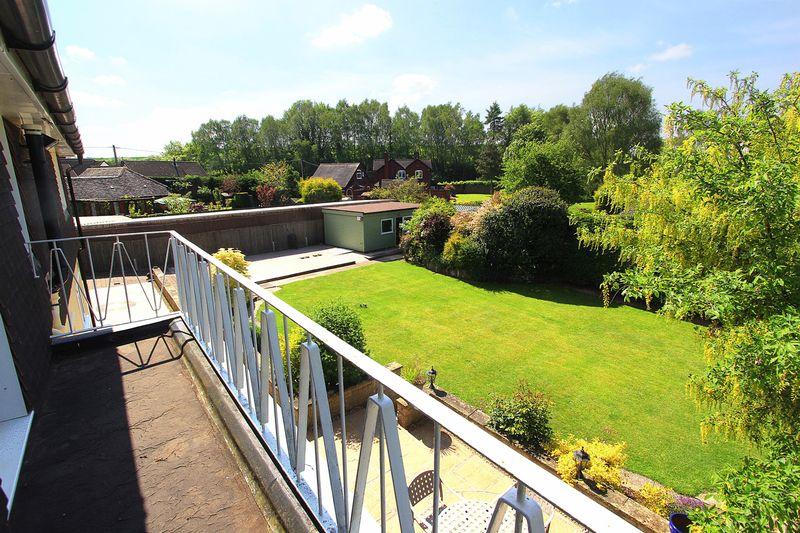 Rear garden from balcony