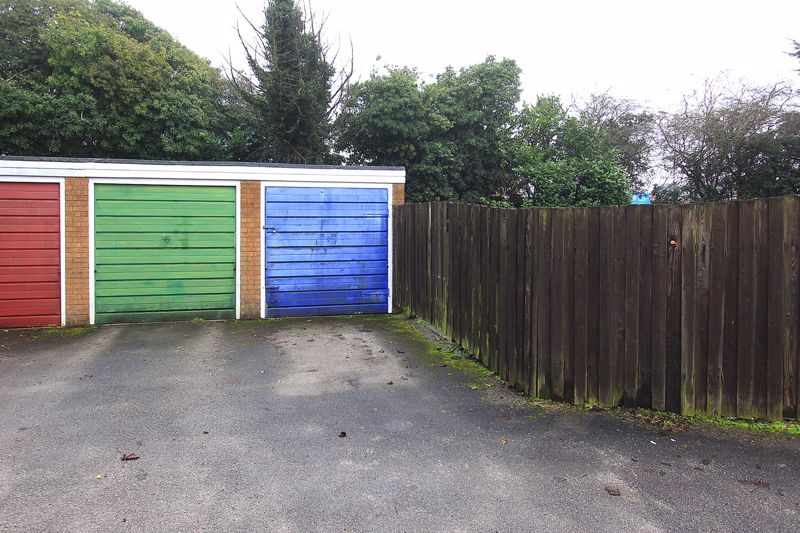 Garage (in block at rear - blue door)