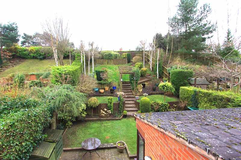 First floor view of rear garden