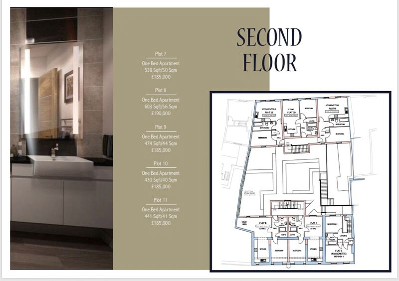 Second Floor Layout and Prices