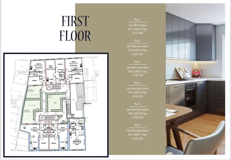 First Floor Layout and Prices