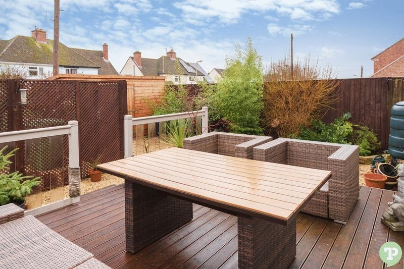 Easy maintenance rear garden with decked area