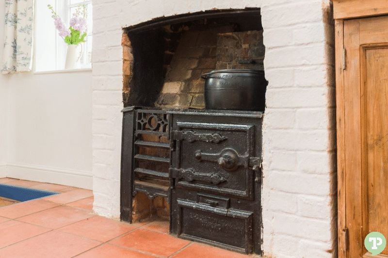 Old kitchen hearth