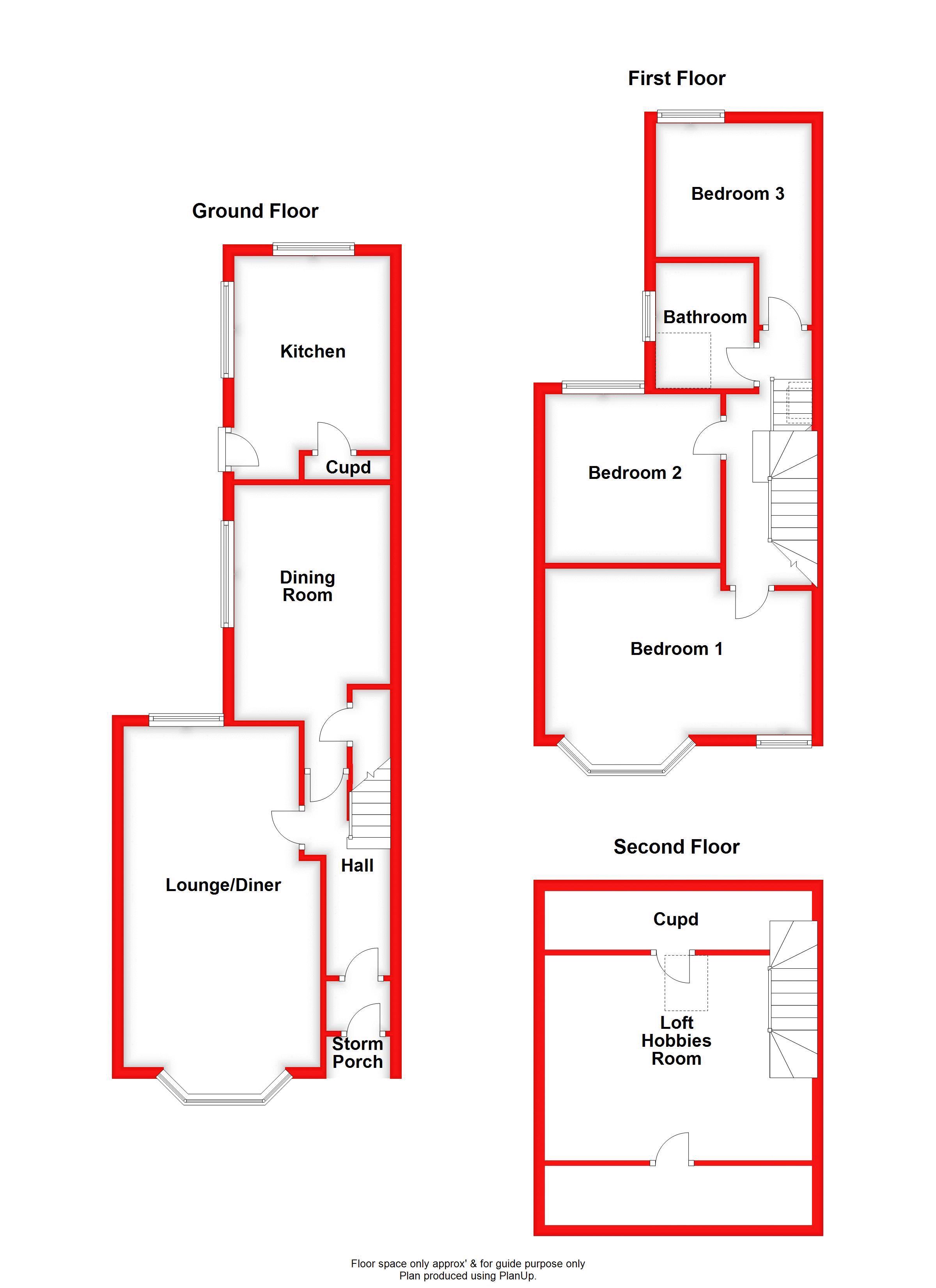 GROUND, 1ST & 2ND FLOORS