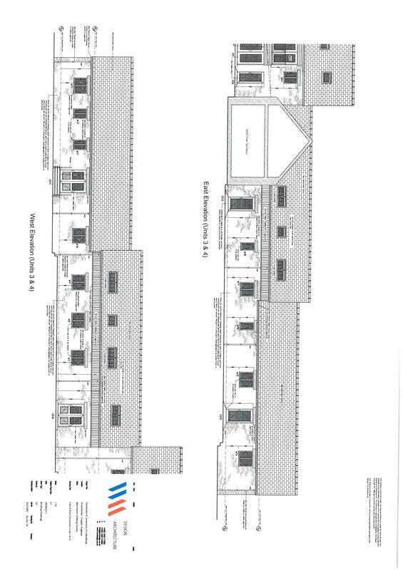 UNITS 3 & 4 WEST & EAST ELEVATIONS