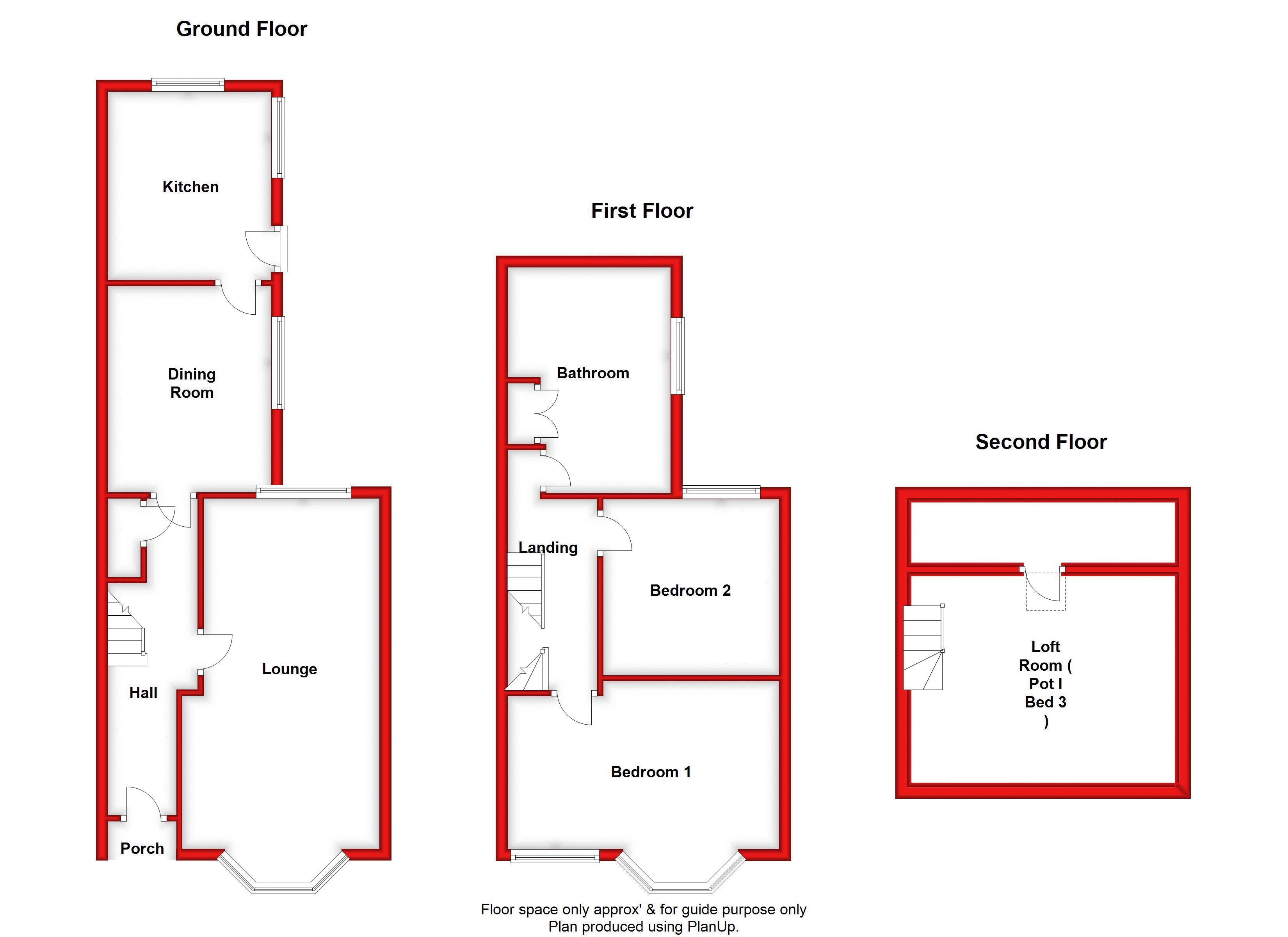 Ground, 1st & 2nd Floor
