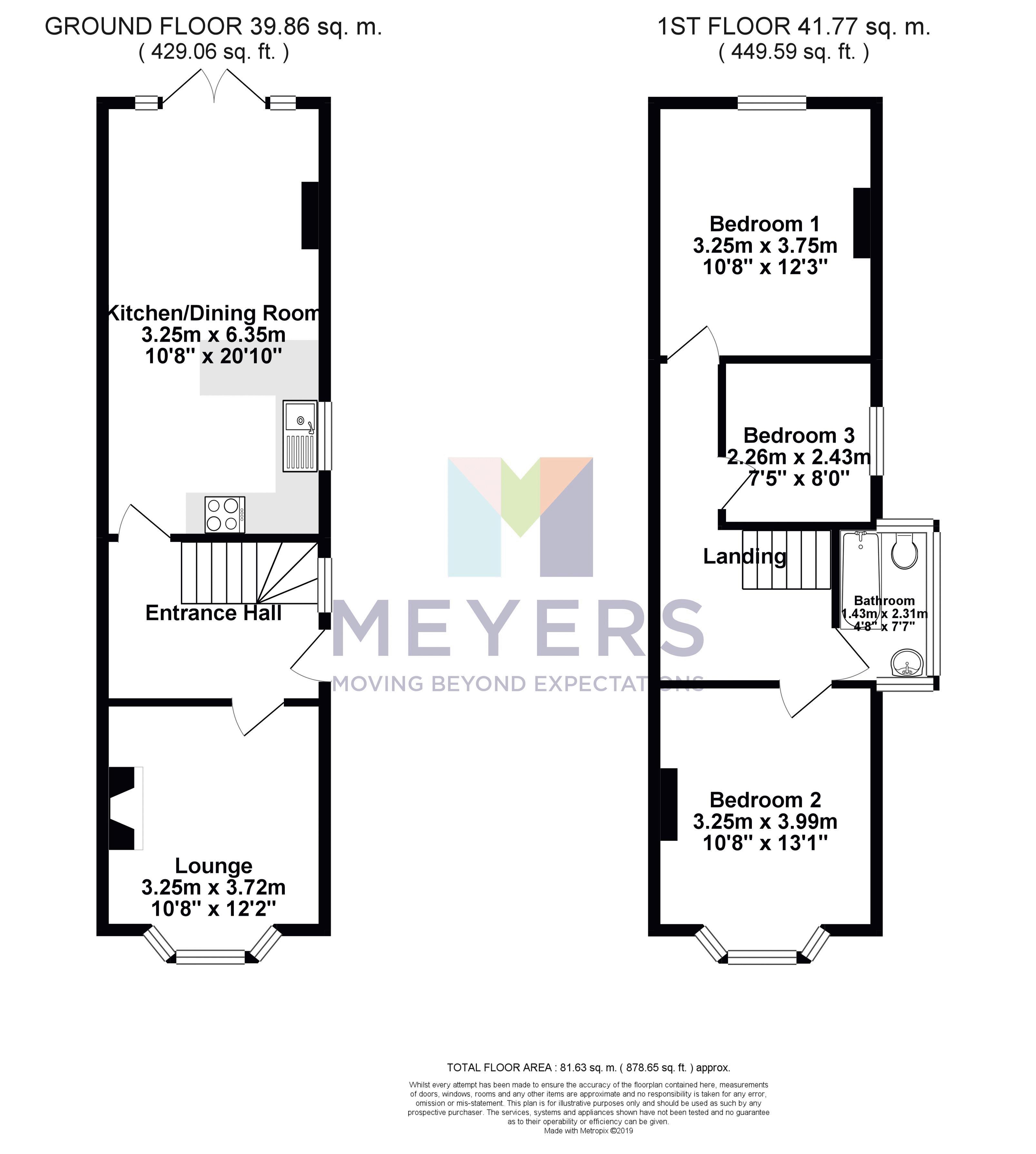 B&W Floorplan