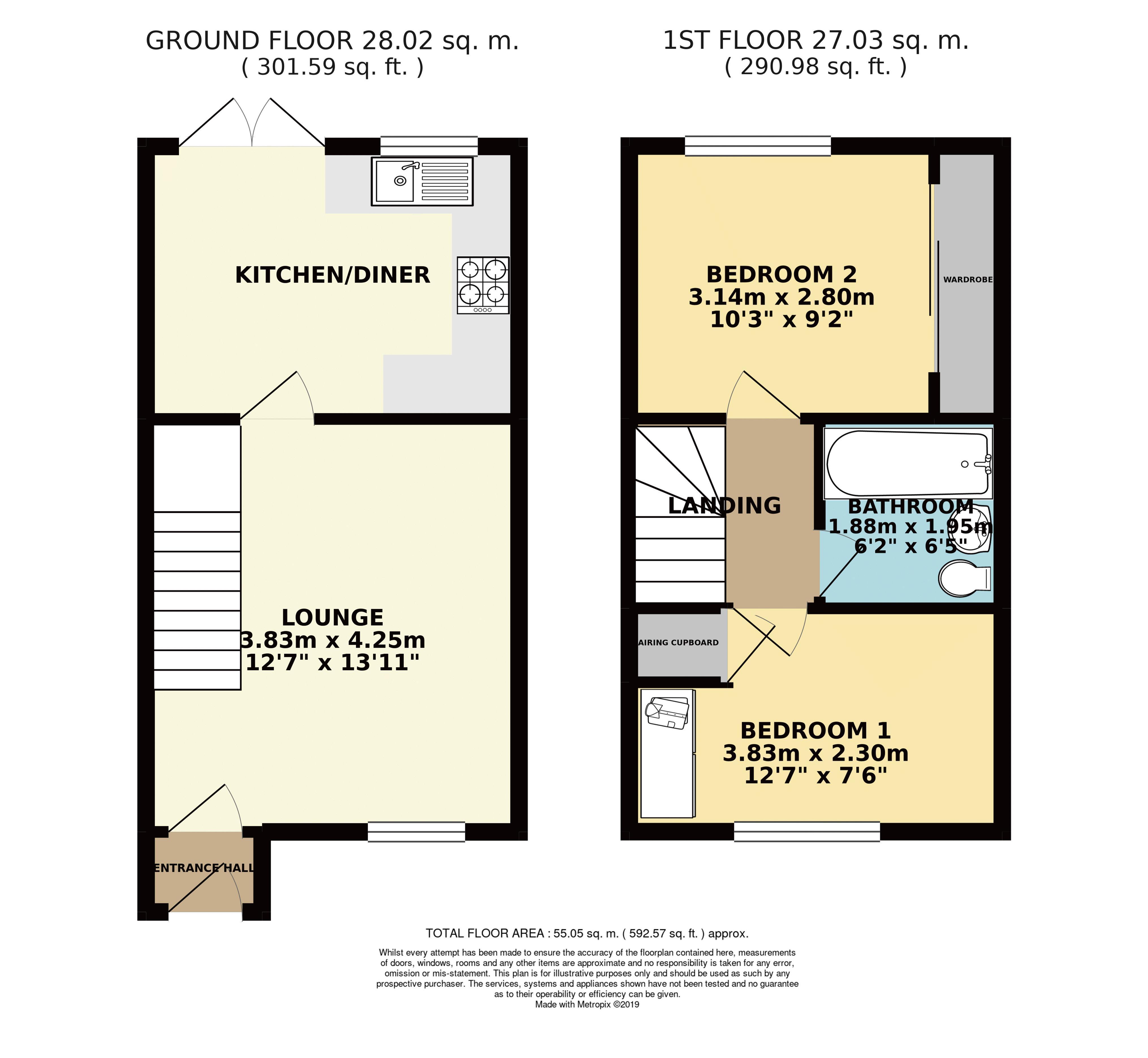 Tate Grove, Floorplan