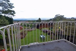 Balcony with view over communal gardens